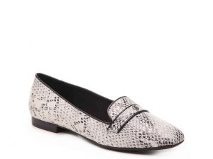 snakeskin loafer is the ideal transitional footwear