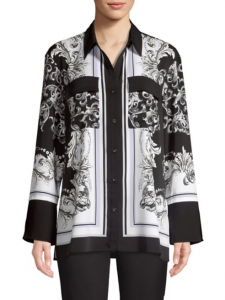 Scarf Print blouses are also very on trend.