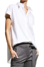 Brunello Cucinelli Short-Sleeve Poplin Shirt