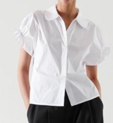 COS Smocked Short Sleeve Shirt