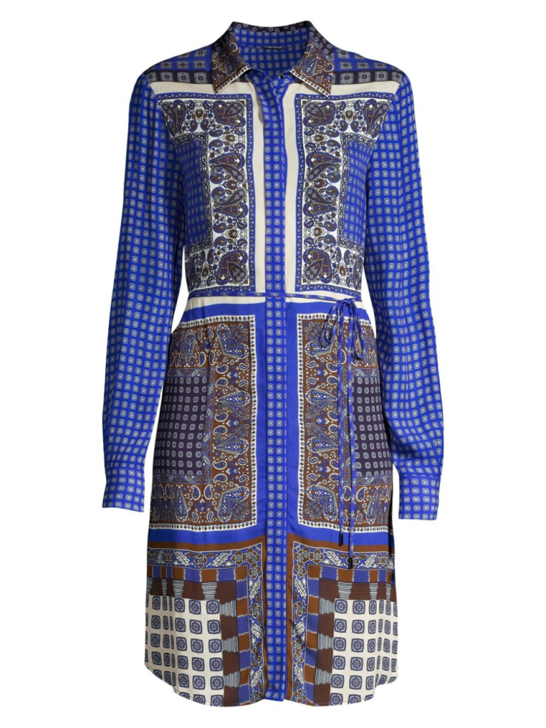 Elie Tahari Roxanne Paisley Georgette Dress