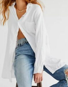 Free People Double Cloth Buttondown Shirt