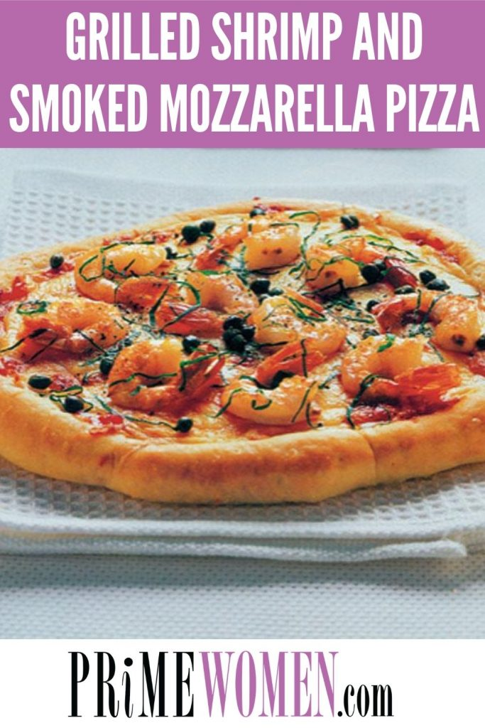 Grilled Shrimp and Smoked Mozzarella Pizza Recipe
