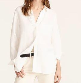 JCREW Classic-fit washed cotton poplin shirt