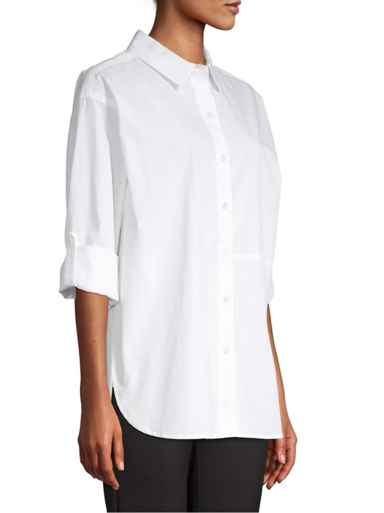 A classic white shirt by Karl Lagerfield