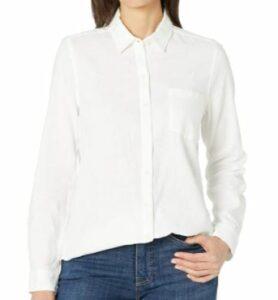 Lucky Brand Women's Long Sleeve Button Up One Pocket Classic Shirt
