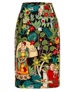 This Frieda Kahlo scarf print skirt is a must have.