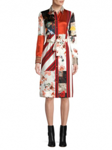 Tory Burch has also embraced the scarf print trend.