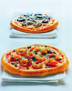 Two grilled pizza variations by Paula Lambert