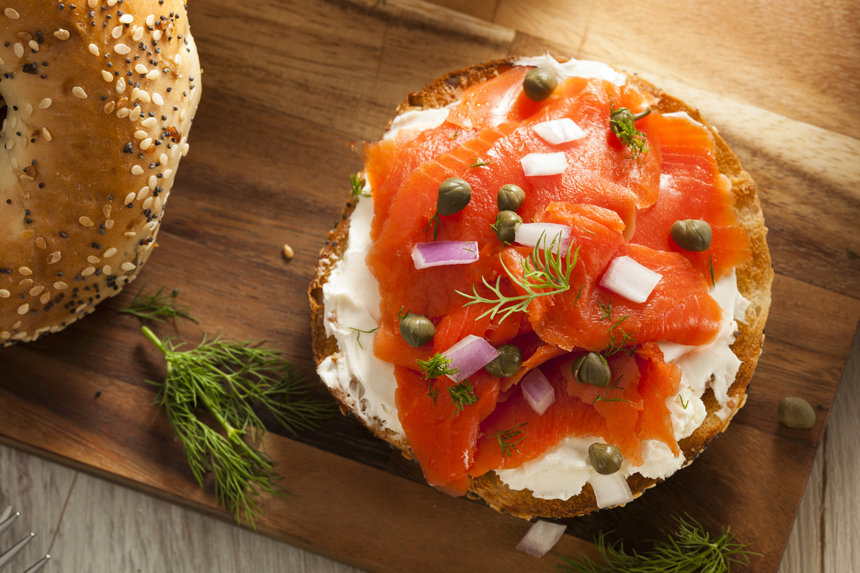 Bagel with lox