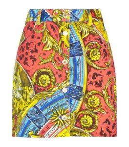 This Roman Scarf Print skirt looks great on women over 50.
