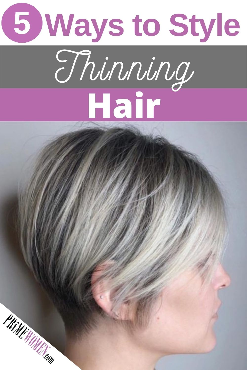 5 Ways to Style Thinning Hair