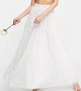 ASOS EDITION embellished cami and pants bridal set