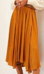 Anthropologie Sleek A-Line Midi Skirt