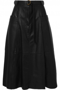 Full skirts work for bold women who want to wear leather.