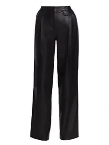 These leather trouser pants are a stylish addition to your closet.