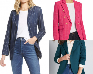 Blazers come in all sorts of colors and patterns.