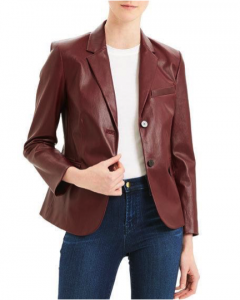 Wearing a fitted leather blazer shows you know how to pull off a modern twist on a classic look.
