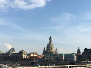 A visit to Dresden must include a stop to admire the Frauenkirche, rebuilt after WWII.
