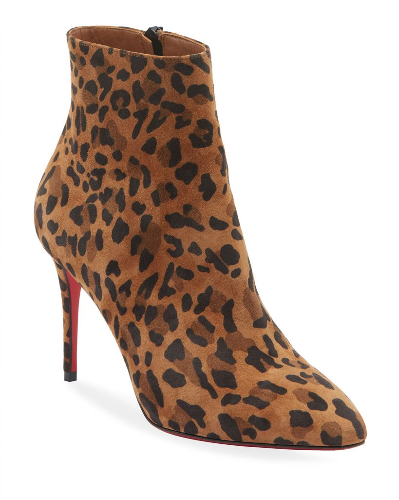 Christian Louboutin Eloise Leopard Red Sole Booties are the ultimate addition to your fall wardrobe
