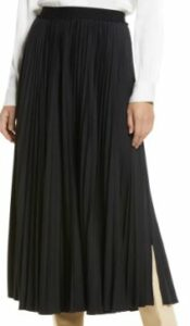 Halogen Pleated Faux Leather Maxi Skirt