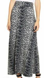 Loveappella Roll Top Maxi Skirt leopard