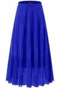 NASHALYLY Women's Chiffon Elastic High Waist Skirt