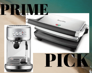 The Breville Panini Press and Espresso Maker are kitchen must-haves.