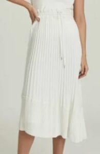 Reiss Lottie Pleated Midi Skirt
