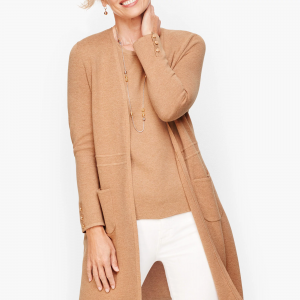 Open front sweaters are great for business casual for women over 50