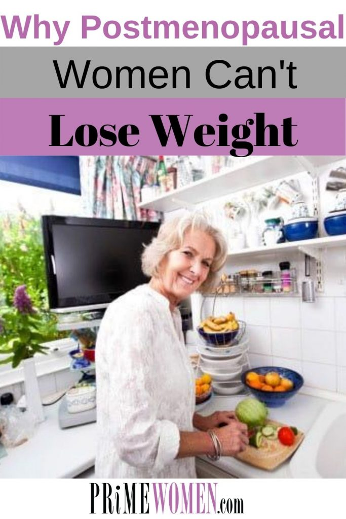 Why postmenopausal women can't lose weight