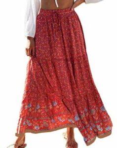 ZESICA Women's Bohemian Floral Printed