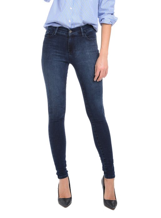 These Mott & Bow dark wash jeans can be dressed up or down which is why they're some of the best jeans for women over 50.