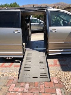 Wheelchair ramps can be added to modified vans to allow for easier travel while disabled.