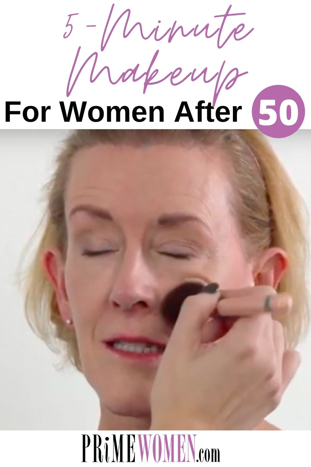 5 Minute Makeup for Women After 50