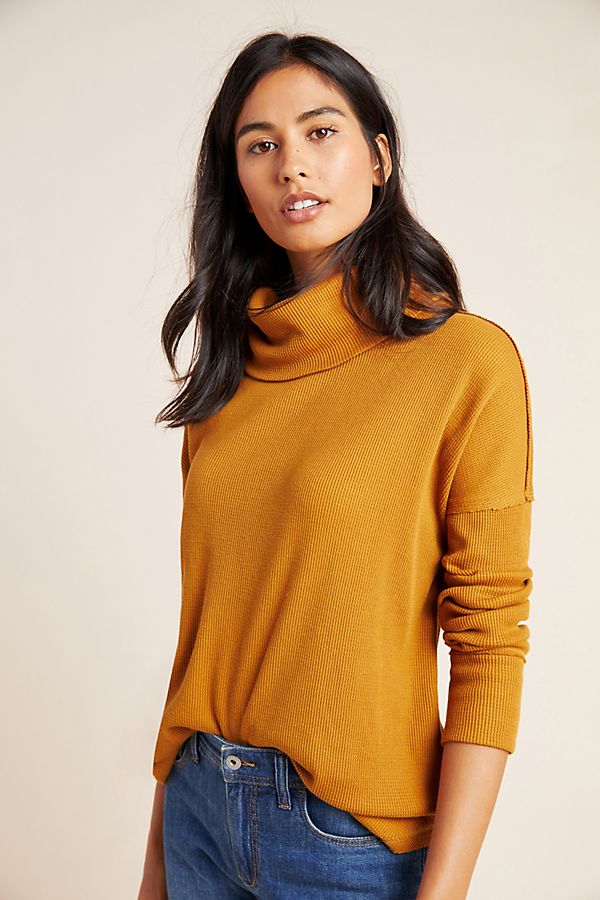 Anthropologie Ainsley Thermal Turtleneck