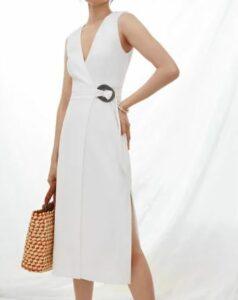 Anthropologie V-Neck Wrap Midi Dress