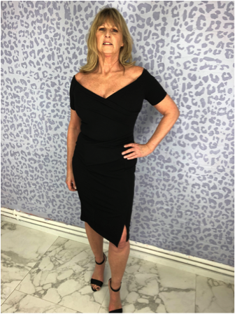 Black Bardot Party Dress by SilkFred