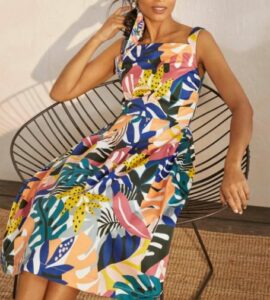 Boden Aubrey Cotton Midi Dress