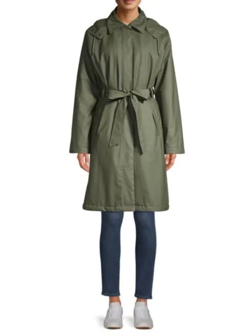 Olive RainCoat Trench Coat Fashion