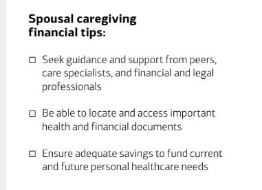 Spousal caregiving financial tips