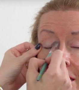 In this makeup lesson for women over 50 pull the eye to get in the creases