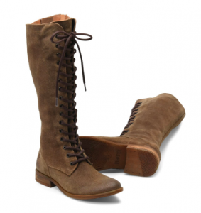Distressed Brown Lace Up boot by Born
