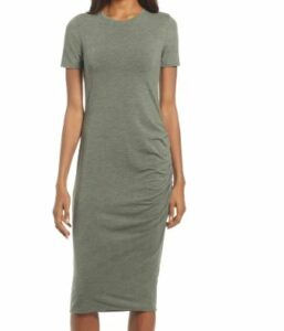 Side Ruched Body-Con Dress