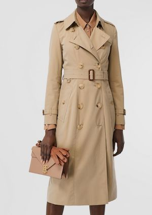 Classic Burberry Long Trench Coat