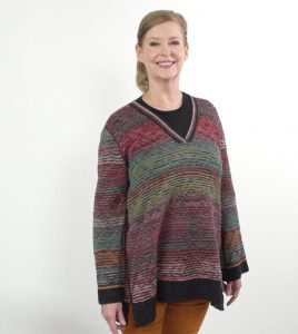 The jewel toned sweater from Peruvian Connection is sumptuously soft.