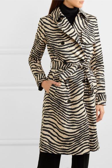 zebra print belted jacket