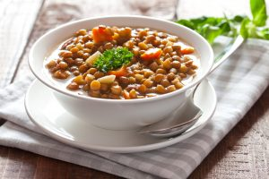 Luscious Lentil Soup will become a favorite recipe in your high protein diet!
