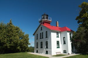 the Grand Traverse lighthouse is a must-see if you visit Michigan