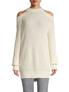 Cold shoulder sweater aren't too much skin to show